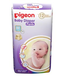 Pigeon Ultra Premium Medium Size Baby Diaper Pants - 36 Pieces