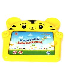 Toys Bhoomi Touch & Play Kids Tablet Tiger Design - Yellow