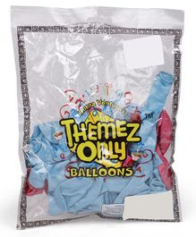 Themez Only Balloons Pack of 50 - Blue Pink