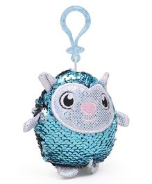 Shimmeez Clip On Toy Animal Shape Blue White - 16 cm