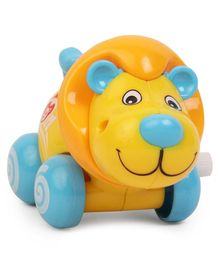 Lion Shaped Wind Up Toy - Yellow Blue