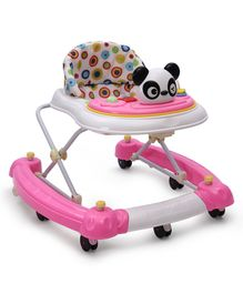 Musical Walker Cum Rocker With Panda Play Tray - Pink