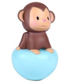 Baby Tumbler Toy Monkey - Blue & Brown