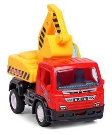 Pull Back Construction Toy Truck - Red & Yellow