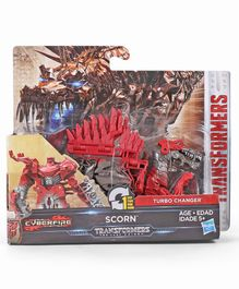 Transformers The Last Knight Turbo Changer Scorn Figure - Red