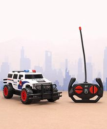 Remote Control Police Car - White