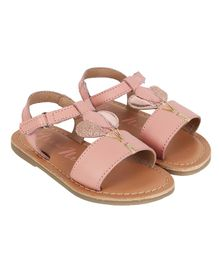Aria+Nica Velcro Closure Balloon Applique Sandals - Pink