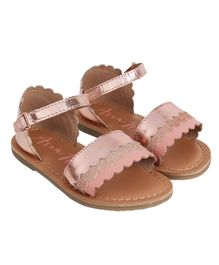 Aria+Nica Buttercup Velcro Closure Sandals - Pink