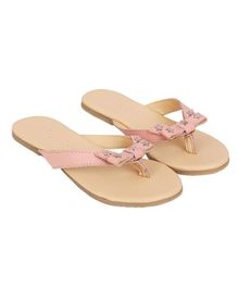 Aria+Nica Bow Applique Slip-Ons - Pink
