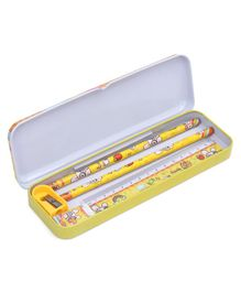 Stationery Set Bunny Print Yellow  - 6 Pieces