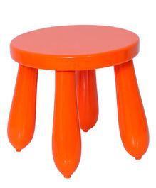 Spaces by Sonam Wooden Stool - Orange