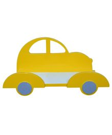 Spaces by Sonam Wooden Car Shelf - Yellow