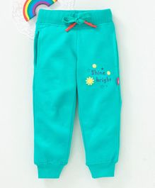 Bonkerz Shine Bright Print Full Length Lounge Pants - Sea Green