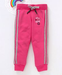 Bonkerz Believe In Your Selfie Design Full Length Lounge Pant - Pink
