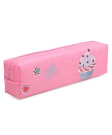 Pencil Pouch Cake Print - Pink