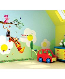 Syga Cartoon Animals PVC Vinyl Wall Sticker - Multicolor