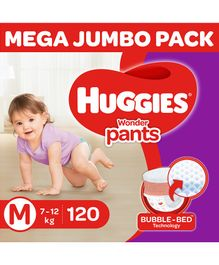 Huggies Wonder Pants Diaper Monthly Pack Medium Size - 120 Pieces