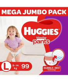 Huggies Wonder Pants Diaper Monthly Pack Large Size - 99 Pieces