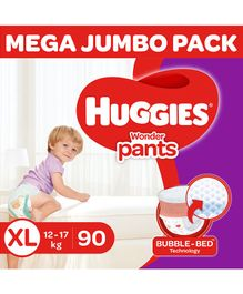 Huggies Wonder Pants Diaper Monthly Pack Extra Large Size - 90 Pieces