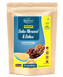 Tots And Moms Foods Instant Dalia Almonds & Dates - 500 gm