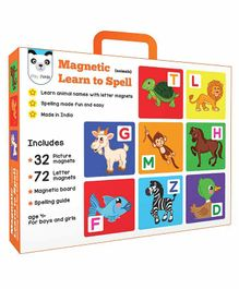 Play Panda Magnetic Learn To Spell Animals Themed Game - Multicolour