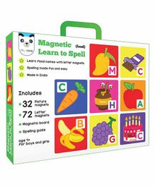 Play Panda Magnetic Learn to Spell Food - Multicolour