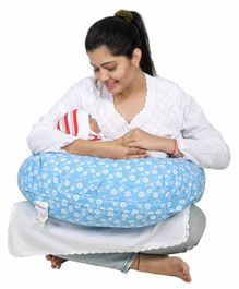 Lulamom Flowers Portable Comfortable Nursing Pillow - Blue