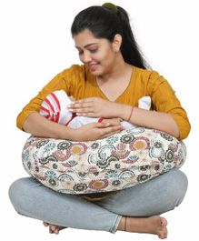 Lulamom Allergen Protected Nursing Pillow & Cover Flower Print - Multicolour