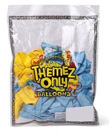 Themez Only Madagascar Balloons Pack of 50 - Yellow Blue