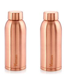 Hazel Vaman Copper Water Bottle Set of 2 - 600 ml Each