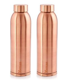 Hazel Vaman Copper Water Bottle Set of 2 - 900 ml