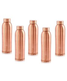Hazel Vaman Copper Water Bottle Set of 5 - 900 ml Each