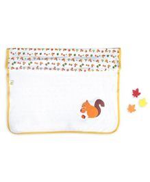 Beebop Double Layered Reversible Blanket Squirrel Print - Yellow