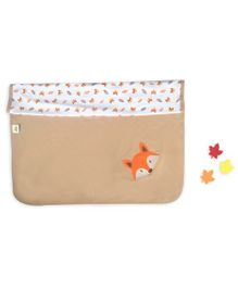 Beebop Double Layered Reversible Blanket Fox Print - Light Brown
