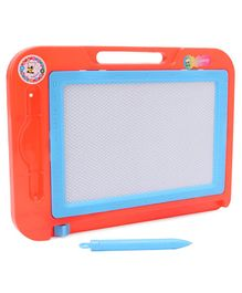 Rectangle Shaped Writing Board With Inbuilt Handle & Pen - Red