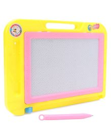 Rectangle Shaped Writing Board With Inbuilt Handle & Pen - Yellow