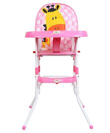 1st Step Convertible High Chair Animal Print - Pink