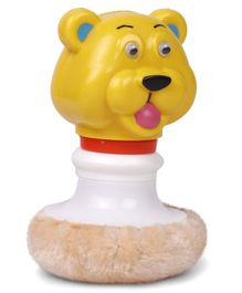 Ratnas Powder Puff Rattle Bear Shape - (Color May vary)