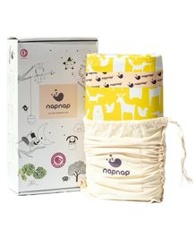 NapNap Portable Lullaby Sleeping Mat - 100 Percent Organic Cotton & Dye - Ello Yellow