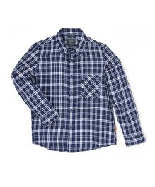 Indian Terrain Checks Full Sleeves Shirt - Blue
