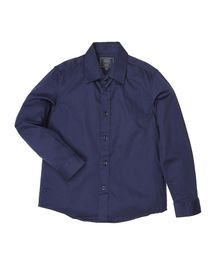 Indian Terrain Solid Full Sleeves Shirt - Blue