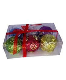Funcart Christmas Baubles Pack of 6 - Multicolour