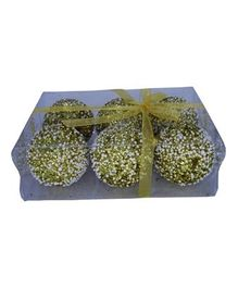Funcart Christmas Baubles Pack of 6 - Golden