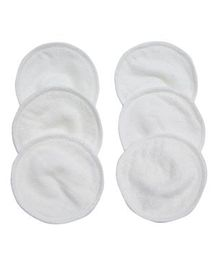 Mee Mee Reusable Absorbent Maternity Breast Pads Pack of 6 - White