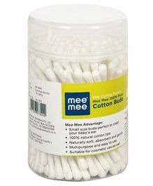 Mee Mee Cotton Ear Buds White - 100 Pieces