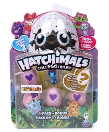 Hatchimals Collectables Pack of 4 - Blue