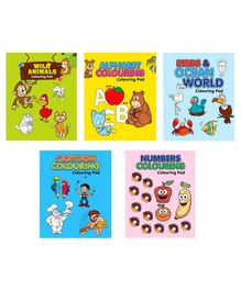 Colouring Pad Pack of 5 - English