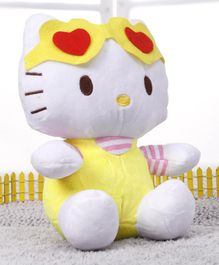 Hello Kitty Soft Toy White & Yellow - Height 24 cm
