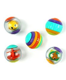 Bright Starts Roll Shake & Spin Activity Balls Pack of 5 - Multicolour