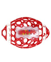 Oball Rugby Rattle Toy - Red